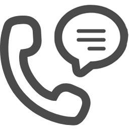 受話器とコメントのアイコン素材 Sorra